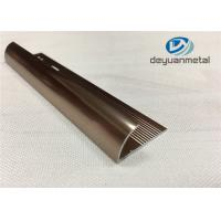 China 6063 T5 Aluminium Extrusion Profile Metal Transition Strips For Flooring With Polishing Bronze wholesale