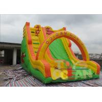 China Colourful Animal World Inflatable Dry Slides Rentals Outdoor Playground For Kids wholesale