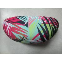China Zebra Cloth Leather Clamshell Eyeglass Case Customised With Golden Foil Printing wholesale