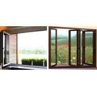Quality Commercial Energy Efficient Folding Glass Windows Electrophoresis Champagne for sale