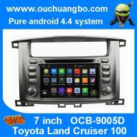 China Ouchuangbo Toyota Land Cruiser 100 pure android 4.4 OS autoradio stereo dvd navi build in wholesale