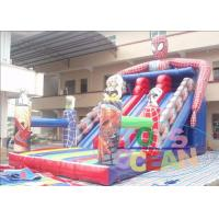 China Colorful Residential Water Inflatable Slides Super Hero With Digital Printing wholesale