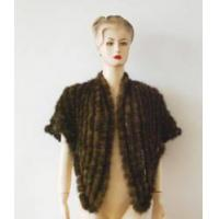China Ladies Knitted Mink Fur Cape wholesale