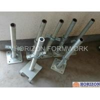 China Q235 Steel Scaffold Screw Jack , Scaffolding Adjustable Base Jack Painted Surface wholesale