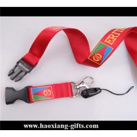 Quality red color 25*900mm eco-friendly polyster lanyard with claw no MOQ for sale