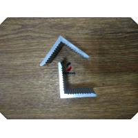 China Silver White Anodized 6061 Aluminum Profile Extruded L Shape For Heat Sink on sale