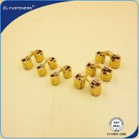 China Cylindrical 10mm Brass Concealed Hinges 180 Opening Angle Multi Length Acceptable wholesale