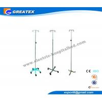 China Hospital IV Pole Stands with Five Plastic / Chrome Base for Transfusion wholesale