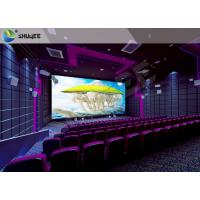 Quality High Definition  Sound Vibration Cinema With Big Screen Dual Projectors for sale