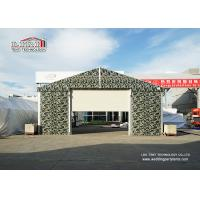 China Sliding Door Aluminum Frame Helicopter Hangar , Temporary Private Jet Hangar wholesale