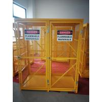 """China 71-3/4"""" X 60"""" X 30"""" Assembled Yellow Industrial Safety Cabinets Gas Cage Cylinder Storage wholesale"""
