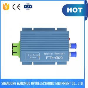 China Aluminum FTTH Mini WDM optical receiver with 2 rf output ports on sale
