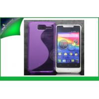 China Anti-scratch Motorola Cell Phone Protective Cases S-Line TPU Cover Purple on sale