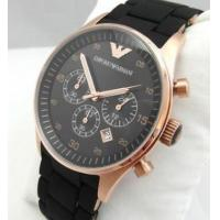 China Wholesale NEW EMPORIO ARMANI AR5905 ROSE BLACK & GOLD RUBBER/SILICONE MENS WATCH wholesale