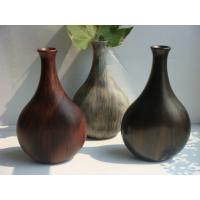 China Wooden Decorative Flower Vase Antique Imitation Chinese Vases For Artificial Flower on sale