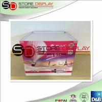 China  Cardboard  pallet display retail for supermarket with 4 C offset printing  for sale