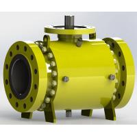 China Trunnion Bolted Pipeline Ball Valve, Fire safe Design wholesale