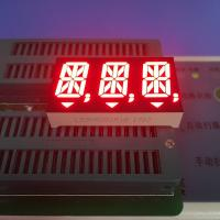 China Ultra Red Triple Digit 14 Segment Led Display For Medical Instrument , 14 Seg Display wholesale