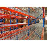 China Strong Structural Box Beam Heavy Duty Pallet Racking With Wire Mesh Decking wholesale
