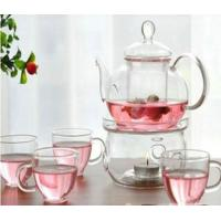 China Transparent Color Glass Water Kettle Glass Tea Kettle With Infuser Lw-K24 wholesale