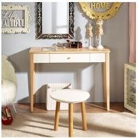 China Natural Light Wood Computer Desk Durable With Solid Wood Legs wholesale
