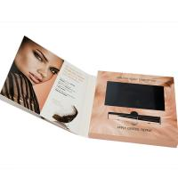 China VIF Free Sample  Hard Cover Digital 7 inch HD LCD  screen Video Brochure For invitation advertising wholesale