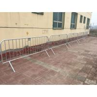Buy cheap Steel Galvanised Classic Crowd Control Pedestrian Barricades / Event Crowd Barrier Factory wholesale from wholesalers