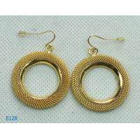 China New Fashion Tin Alloy and Golden Dangle Drop Earrings with Factory Price wholesale