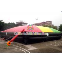 China 055mm Tarpauline Inflatable Sport Games / Jump Air Bag For Snowboard on sale