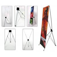 Quality Retractable X Frame Banner Stand , Full Color Printing Trade Show Banner Stands 80*180cm for sale