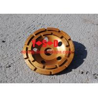 China Double Row Diamond Grinding Cup Wheel for grinding concrete / 7 inch diameter on sale