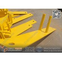 Temporary Construction Fencing panels with yellow color powder coated