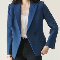 Quality Double Breasted Casual Loose Fit Blazer For Office Ladies for sale