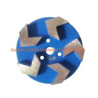 China 3 inch Arrow Segment Velcro Backed concrete grinding disc for Stonekor concrete grinder on sale