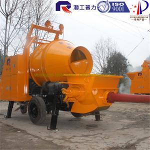 China portable Concrete Mixer Pump Trailer 600L×1050mm 7Mpa Outlet Pressure wholesale