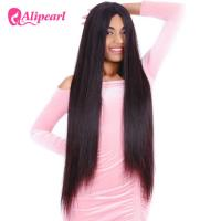Buy cheap Long Straight Full Lace Human Hair Wigs 8A 150% 180% 200% 250% Density from wholesalers
