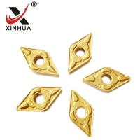 China Gold Tungsten Carbide Turning Inserts , Cemented Carbide Inserts DNMG150608 wholesale