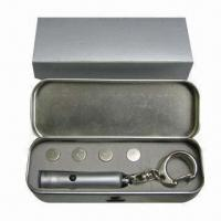 China Laser Pointer, Made of Brass, Powered by 3 x AG13 Button Battery wholesale