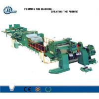 China High Speed Sheet Roof Metal Slitting Line / PLC Control Stainless Steel Slitting Machine wholesale