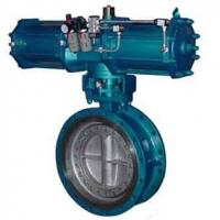 Quality Pneumatic Metal Seat Butterfly Valves DN300 PN10 For Industrial Waste Water for sale