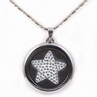 China Scalar Pendant, Star Shape, Made of Volcanic Ash with Negative-ion/Infrared Ray, Fashionable Design on sale