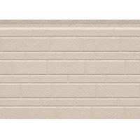 China 38 Kg / M3 Embossed Exterior PU Sandwich Wall Panel Thermal Insulation 380mm on sale