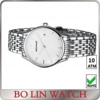 China Mens Sport Stainless Steel Bracelet Watch / White Dial Watch With Metal Strap wholesale