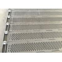 China Food Processing Slat Chain Conveyor , Lightweight Heat Resistant Conveyor Belt wholesale