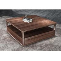 China 2017 New Walnut Wood Case Good Furniture Design Living room Coffee table& Tea table with Storage side Drawers wholesale
