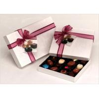 China Neat Choclate Custom Packaging Boxes With Ribbon , Packaging Cardboard Boxes wholesale