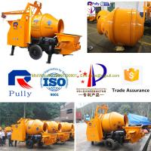 China Pully JBT40-P1 vertical concrete mixer, concrete mixer pump trailer, concrete mixer trailer wholesale