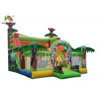 China Cartoon Printing Kids Amusement Inflatable Jumping Castle With Double Lane wholesale