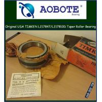 China Single Row Timken Taper Roller Bearings in automotive engineering L217847 / L217810D wholesale