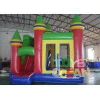China 0.55mm PVC Small Jumping Bouncy Castle Module House With Slide 2 Years Warranty wholesale